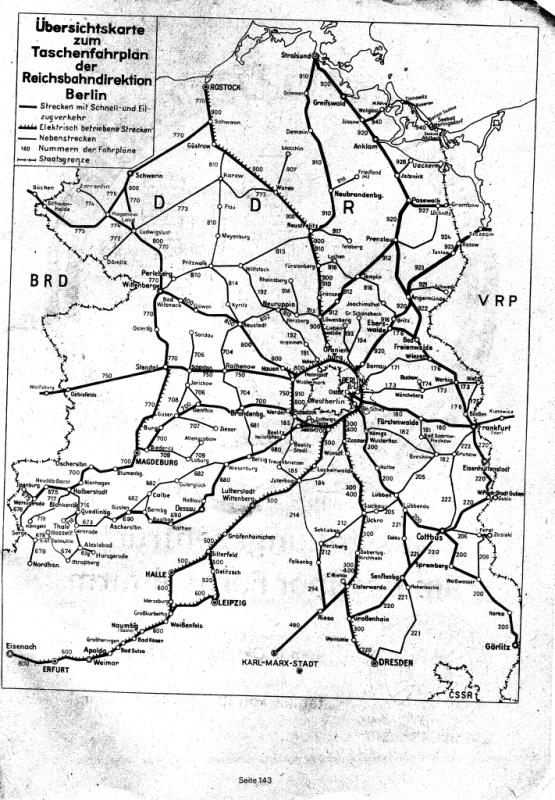 Схема ж-д ГДР